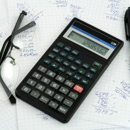 calculator and accounting theme studio isolated