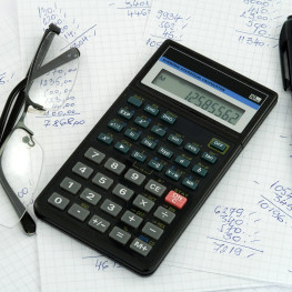 calculator and accounting theme studio isolated